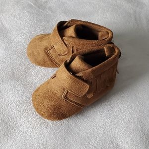 Joe Fresh Brown Booties Baby Size 3